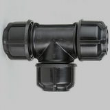 MDPE Alkathene 25mm Pipe Mains Water Equal Tee Piece - 20502544